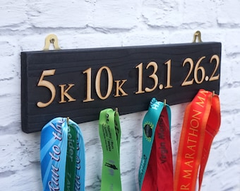 Running Medal Holder/Medal Hanger/Medal Rack/Gift for Marathon Runner/Sport/Father's Day Gift/Marathon Medals/Running Medal Display
