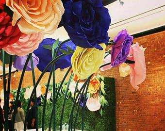 GIANT Crepe Paper Rose, Giant Paper Flowers, Large Crepe Paper Flowers