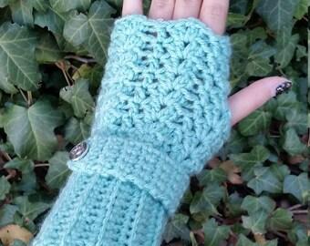 Crochet Wrist Warmers; Fingerless Gloves; Crochet Fingerless Gloves