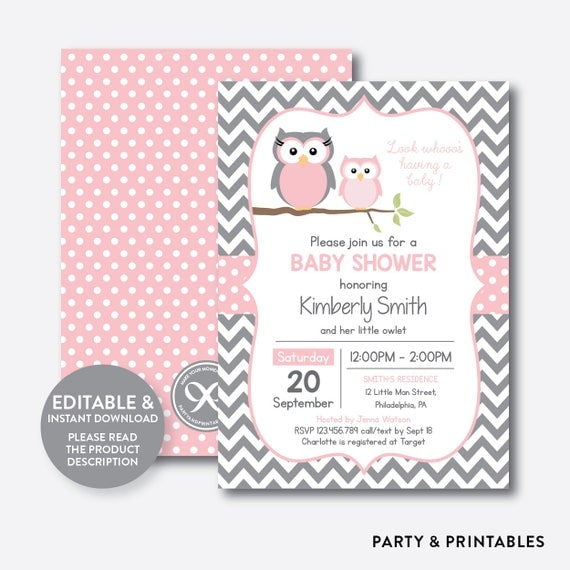 invitations fltr nowa viewer baby image personalized shower owl