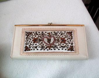 Vintage Hand Brocaded Beaded Wallet
