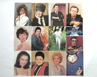 Soviet Artists, Set of 18 Soviet Unused Photo Postcards, Soviet actors, The Planet, Moscow, 1988