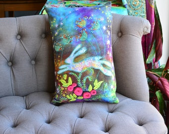 Cushion / Pillow - The Rose Garden Hare