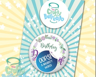Happy Birthday Dickhead! ADULT ONLY 5cm metal back button badge. Perfect addition for birthday cards!