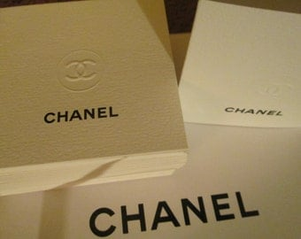 100% Authentic CC Logo CHANEL Blank Mini Note Cards Greeting Cards Lot of 50