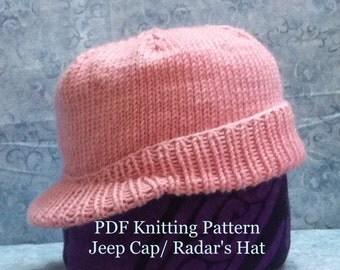 Jeep Cap (Radar Hat) Knitting Pattern
