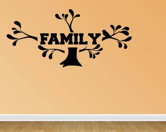 Wall Decal Quote Family Tree Decal Kit Vinyl Wall Lettering Vinyl Letters Vinyl Lettering Photo Tree Decal (JP1)