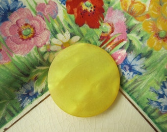 Large Vintage Yellow Button