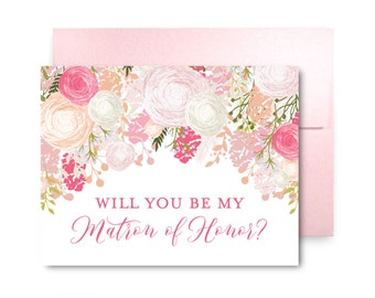 Bridesmaid Proposal Card, Will You Be My Bridesmaid Card, Bridesmaid Maid of Honor Gift, Matron of Honor, Brides Man, Flower Girl #CL141