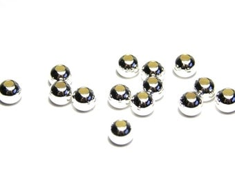 10 pc. Round Sterling Silver Beads 4 mm