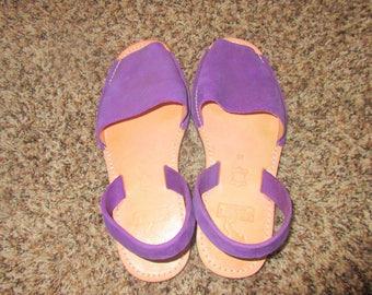 Vintage Suede Peep Toe Sandals Sz 40