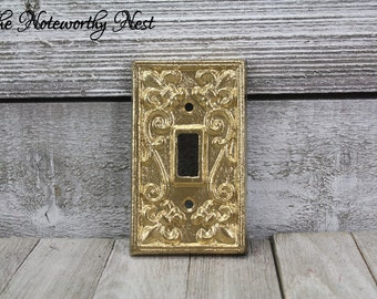 ANY COLOR Cast Iron switch plates / light switch covers / custom switchplates / cast iron light covers / gold switch plates / metallic