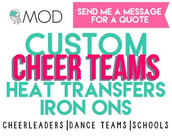 Cheer|Dance Teams Decals Iron-Ons - School Function DIY Iron On - Heat Transfer Vinyl - Tshirts - Totes - Fundraiser - Band Choir Event