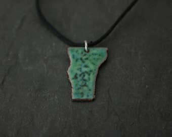 vermont enameled pendant