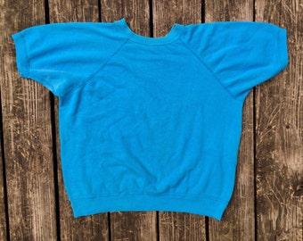 Vintage Shirt Sleeve Swestshirt, Medium, 1980's