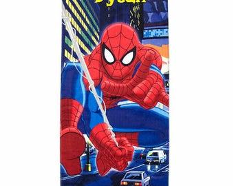 Spider-Man Night City Beach Towel - Personalized Beach Towel