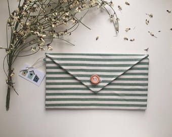 Letter, fabric wallet