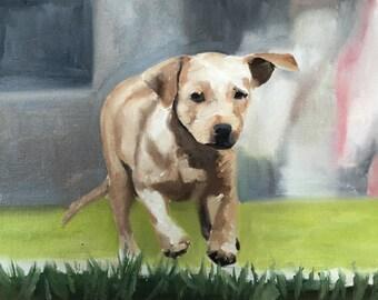 Labrador Puppy Painting Labrador Art Labrador Dog PRINT Labrador Puppy Dog - Art Print - from original painting by J Coates
