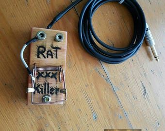 "Tattoo foot pedale ""Rat Killer"" handmade"