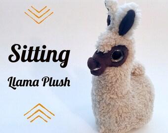 Llama Plush (dark brown)