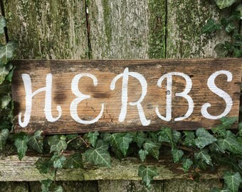 Rustic Herbs Sign