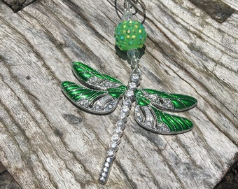 DRAGONFLY Christmas Ornaments | Rhinestone Christmas Ornament| Dragonfly Ornament | Dragonfly Home Decor | Baubles and By Gones