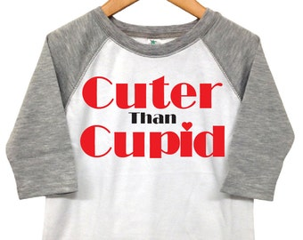 Valentines Day Shirt -  Cuter Than Cupid - Toddler Valentine - Toddler Heart Shirt - Boys Valentine Shirt - Boy Cupid Shirt - Valentine