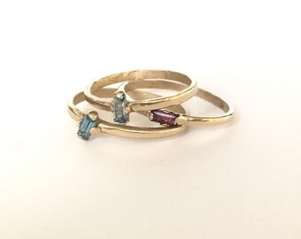 10kt solid gold stackable rings.