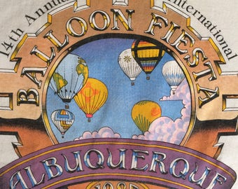 1985 ALBUQUERQUE BALLOON FIESTA Rare Official Limited Edition T-Shirt / Size Large