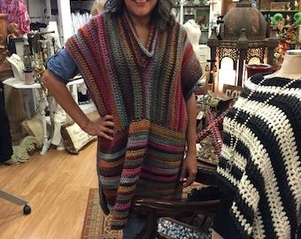 Jennifer Poncho Crochet Pattern