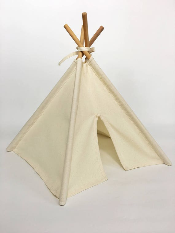 Tiny Teepee Handmade in Natural Canvas
