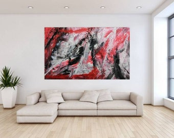 Original abstract artwork on canvas ready to hang 120x200cm #316