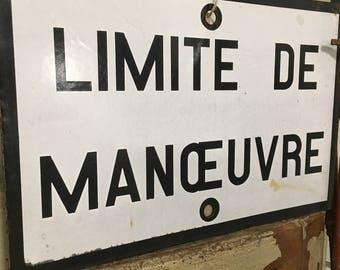 French Vintage Metal Railway Sign