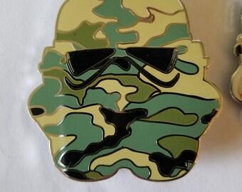 Camo Trooper Helmet enamel pin