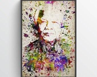 Nelson Mandela Poster,Nelson Mandela Print, Nelson Mandela Art, Home Decor, Gift Idea