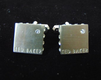 Pair of Ted baker Fashion Designer Cuff Links w/ Crystals