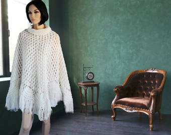 Women's Crocheted Poncho | Spring Poncho | Spring Sweater