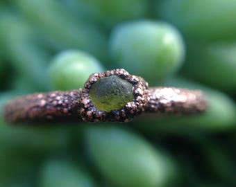 Seaglass | Seaglass Ring | Green Seaglass | Size 7.25 | Ready-To-Ship