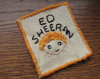 Ed Sheeran embroidery patch