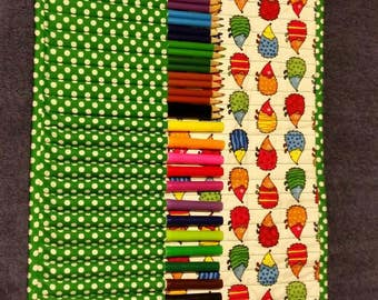 Colored pencil or marker roll up case