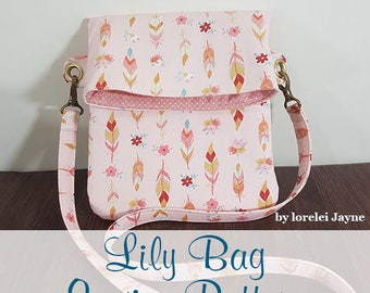 Lily fold over, crossbody bag PDF sewing Pattern