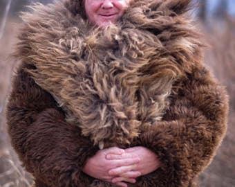 Custom Buffalo Hide Coat: 10-week delivery time.