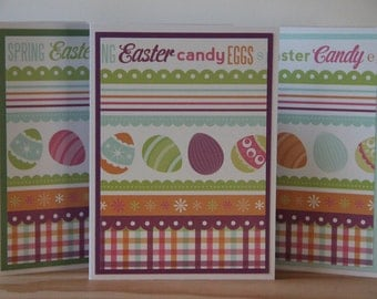 9 Blank Easter Cards.  Easter Egg Card Set. Easter Thank You Cards. Spring Cards.