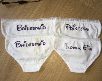 flower girl knickers, flower girl pants, bridesmaid knickers, bridesmaid pants, personalised underwear , bride pants , pants , knickers