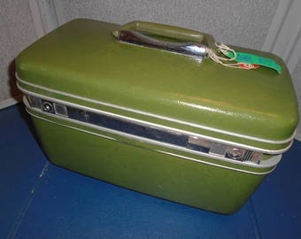 Vintage samsonite train case / Train Case / luggage / Samsonite / make up case