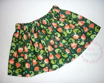Mermaid skirt - green mermaids outfit - sealife skirt - baby's skirt - little girl's skirt - elasticated waist - 0-6 years