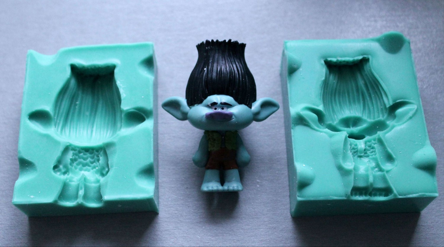 Cake Decoration Trolls : Silicone Mould 3D TROLL BOY Sugarcraft Cake Decorating Fondant