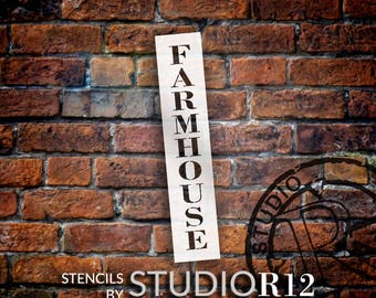 Farmhouse - Country Serif - Vertical - Word Stencil - Select Size - STCL1970 - by StudioR12