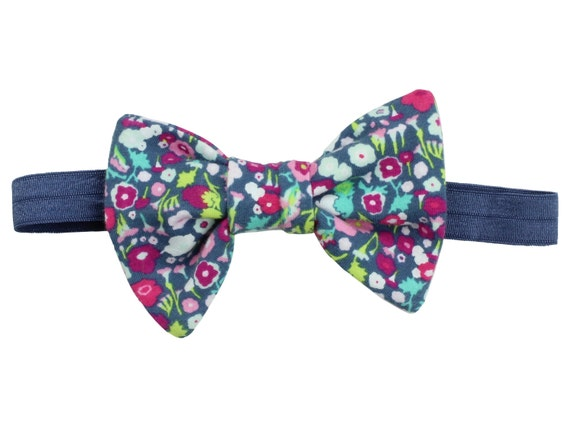 Pink Floral Headband Baby Headband Pink Mint Floral Hair Bow Clip Toddler Bow Pink Mint Blue Floral Hair Bow Clip Floral Headband Baby Girl