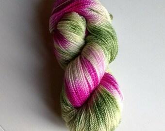 Clover, hand dyed sock yarn